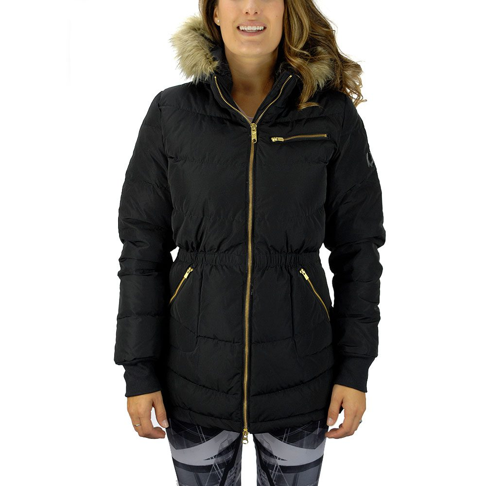 adidas neo women s long down jacket black m32614 wooki. Black Bedroom Furniture Sets. Home Design Ideas