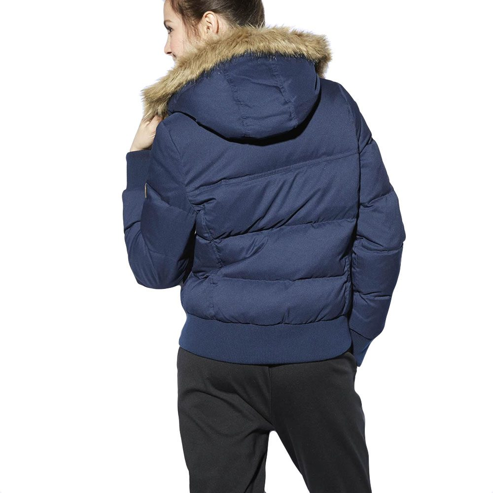 adidas neo women s down winter jacket navy m32598 wooki. Black Bedroom Furniture Sets. Home Design Ideas