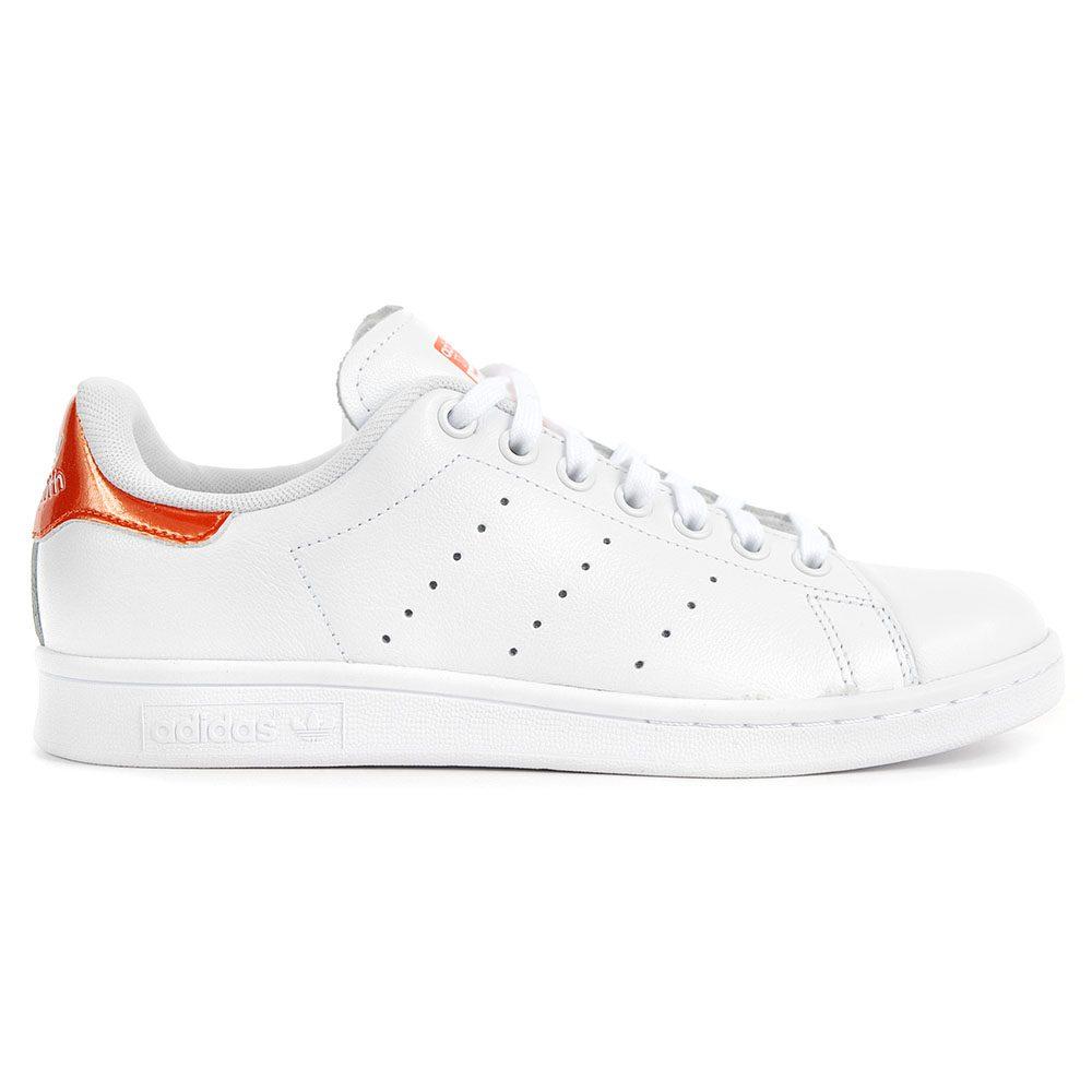 new product b3172 9234f Adidas Originals Women s Stan Smith White Orange White Shoes S81873