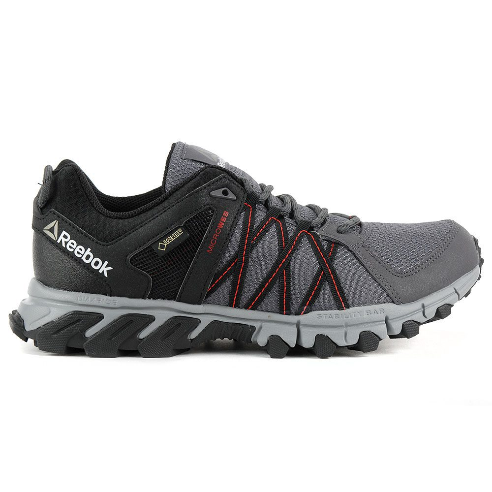 1e95cee010b682 Reebok Men s Trailgrip RS 5.0 GTX Black Grey Gore-Tex Shoes BS5425 NEW!