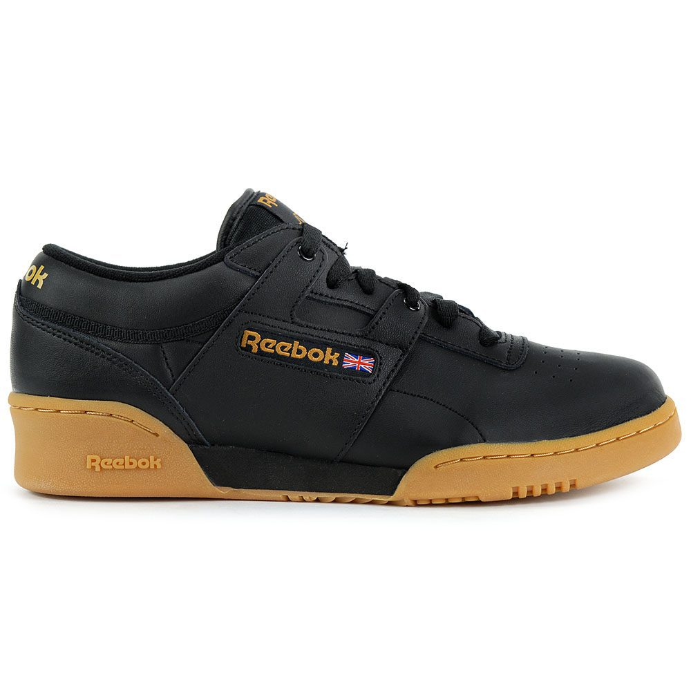 8226000e2b7c49 Reebok Men's Classic Leather Workout Low Black/Gum Training Shoes ...