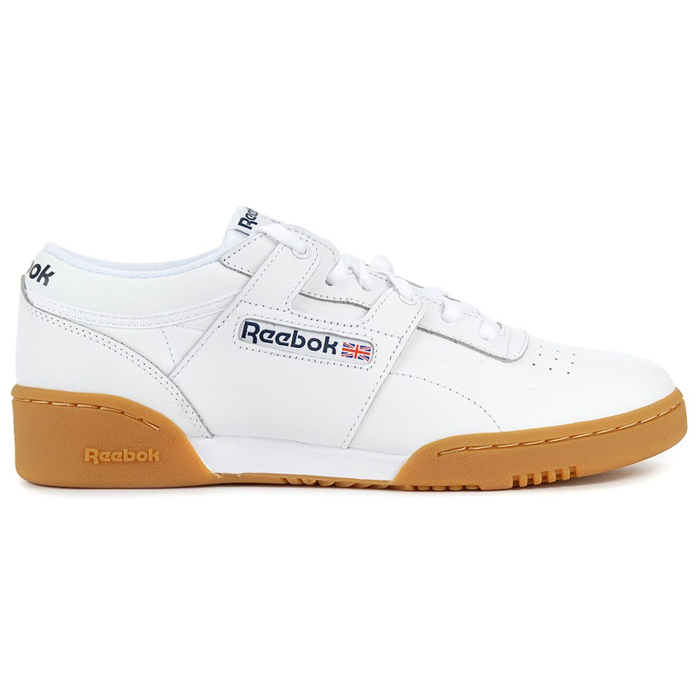 d56aeff569fde Reebok Men s Classic Leather Workout Low Black Gum Training Shoes ...