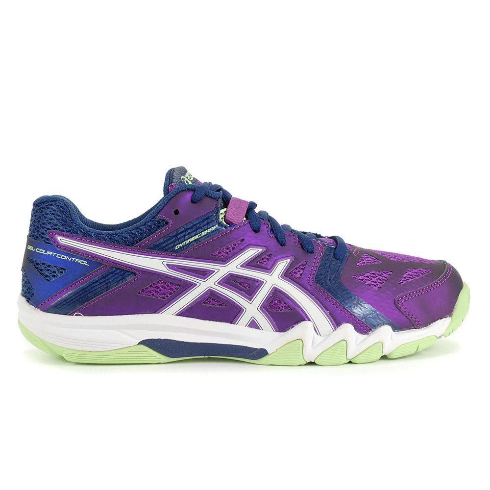 ASICS Women's GEL Court Control GrapeWhite Court Shoes