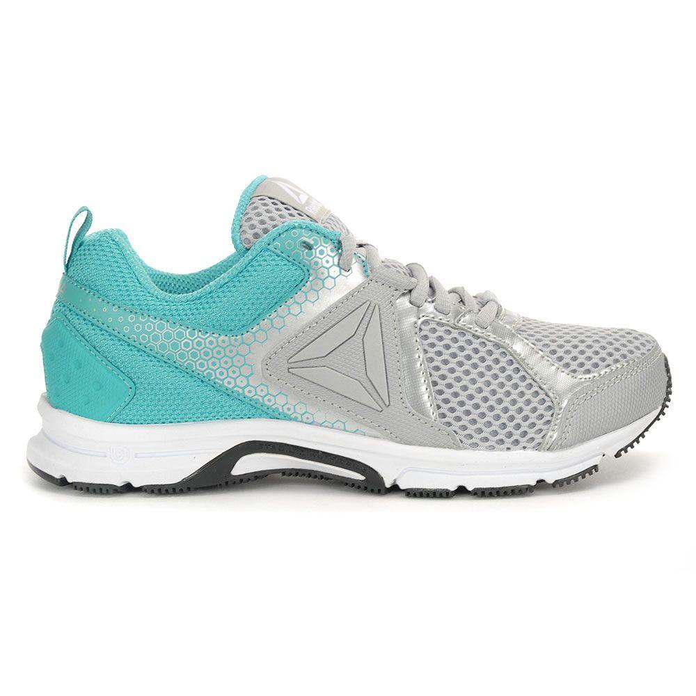 ee527d49cb6d Reebok Women s Runner 2.0 MT Skull Grey Silver Teal Running Shoes CM8980  NEW!