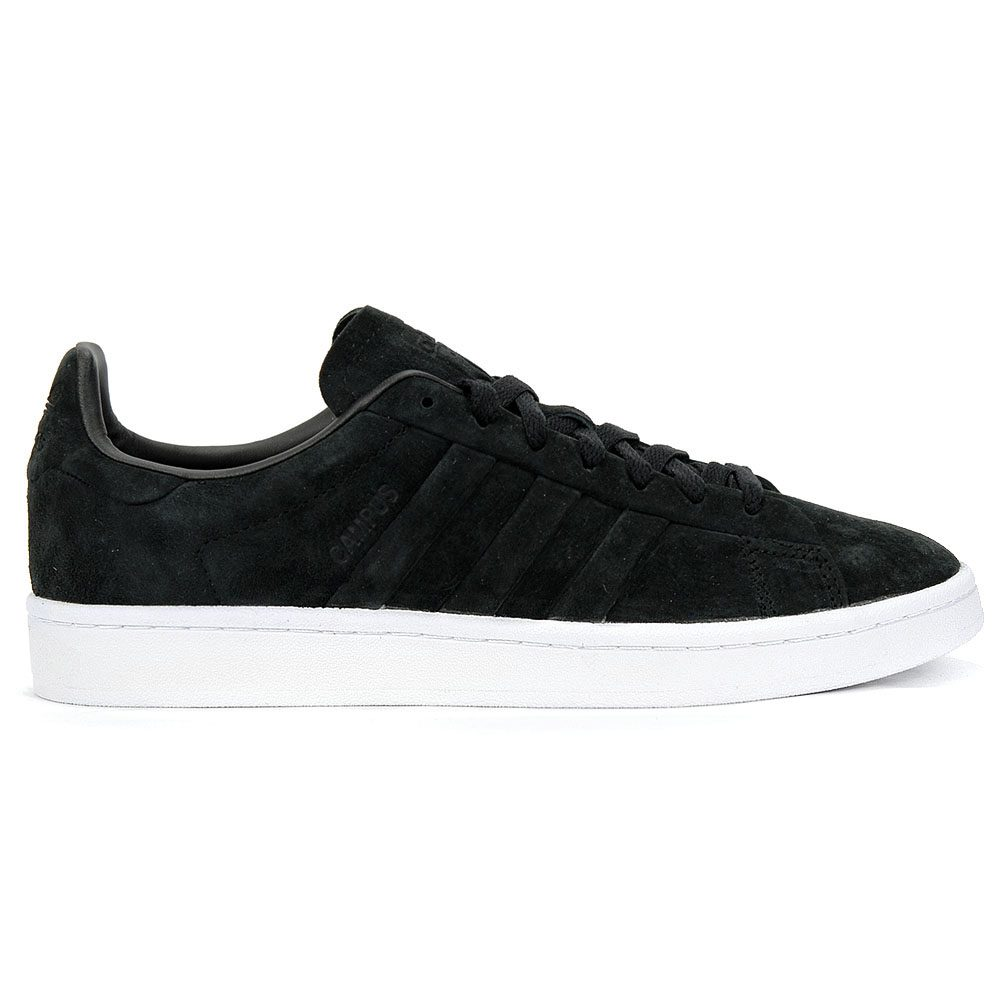 Adidas Men s Campus Stich and Turn Core Black White Shoes BB6745 NEW ... 8c769c07fef79