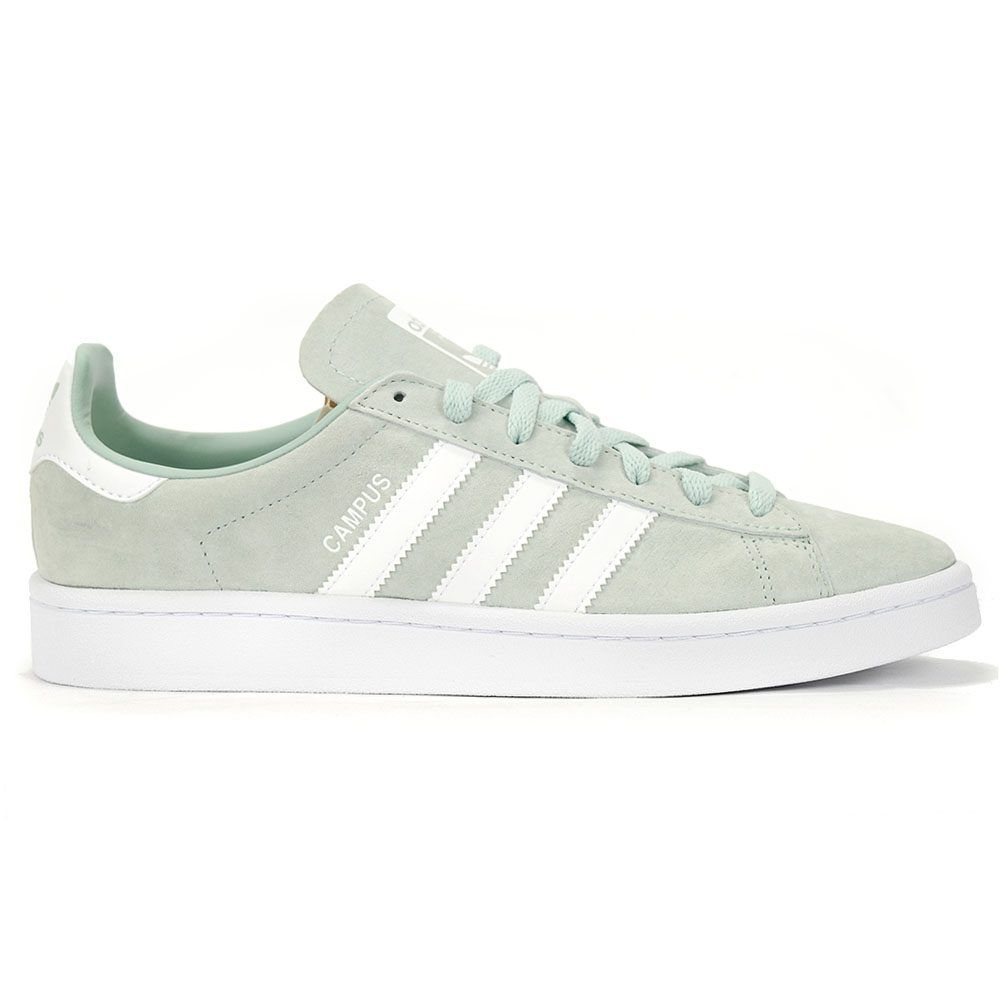 new concept 752af 5f006 Adidas Originals Men s Campus Ash Green White Shoes DB0982 NEW! main product  image