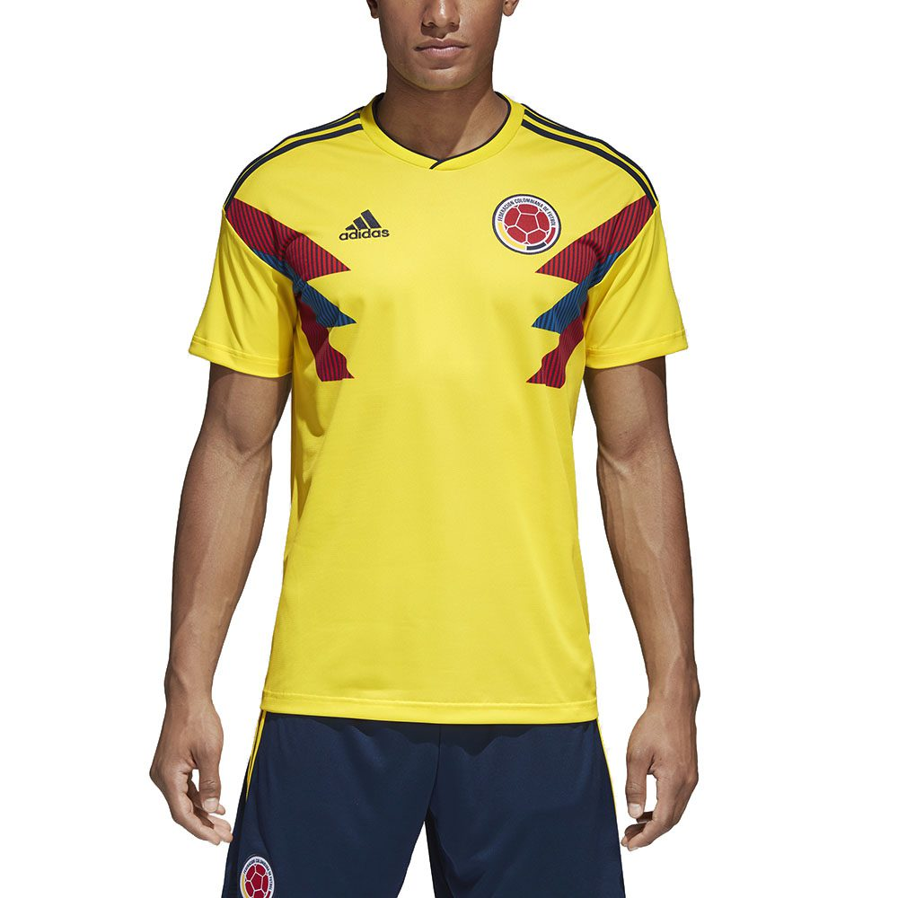 b18c86b0dfa Adidas Men s Colombia Home Jersey Bright Yellow Navy CW1526