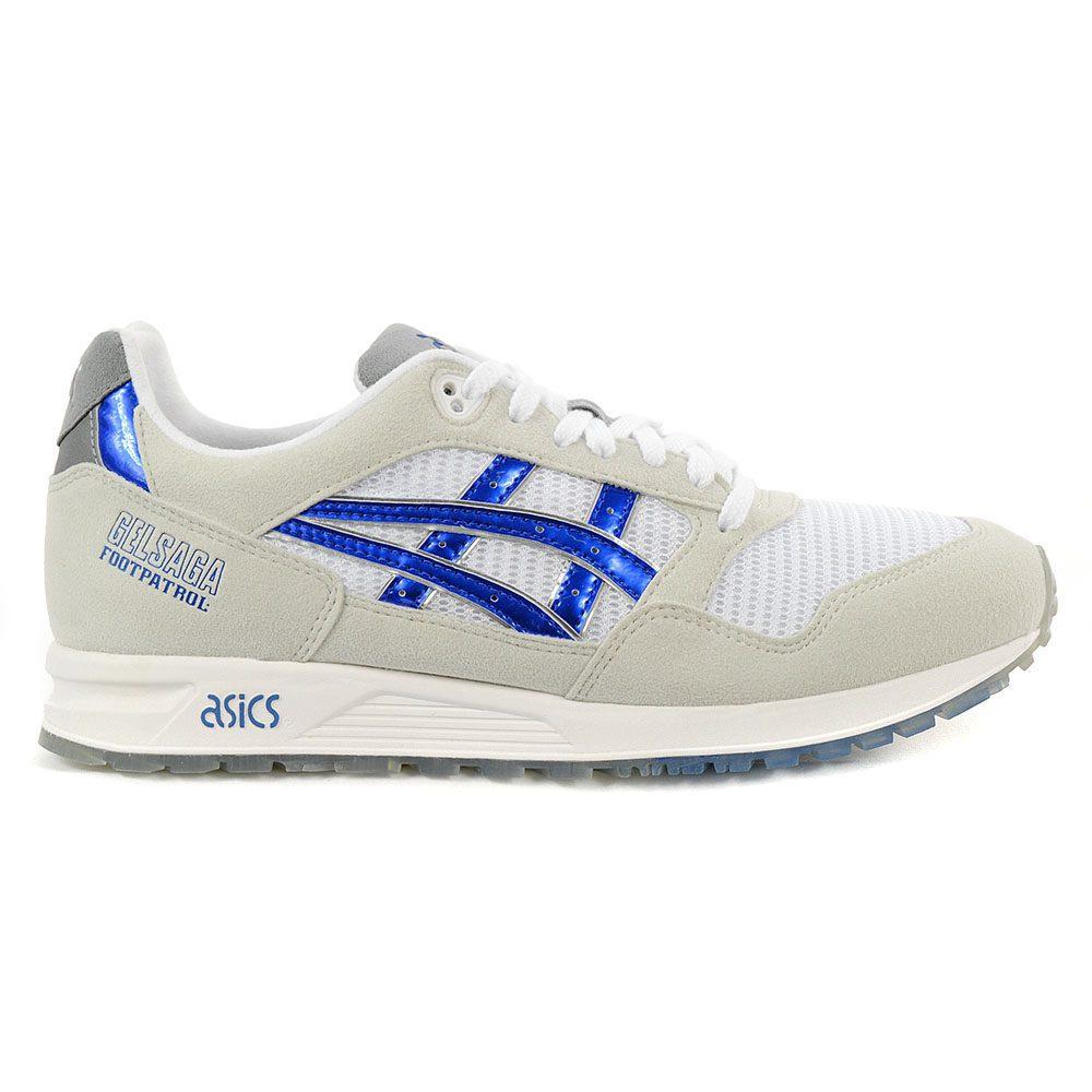 new concept 2771d b4729 ASICS X FootPatrol Gel-Saga 1 Titanium GreyIridium Blue Shoes 1191A059.022  NEW!