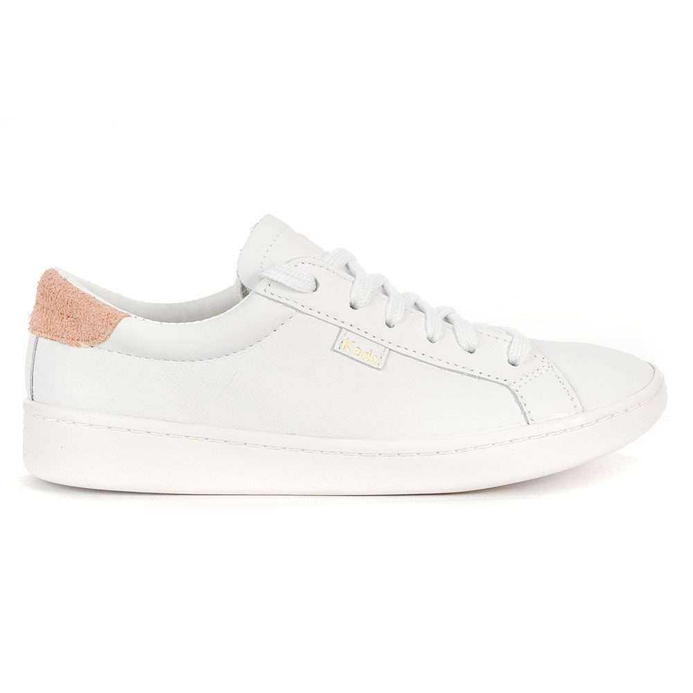 01d68057c8 Details about Keds Women's ACE Leather White/Coral Shoes WH58548 NEW!