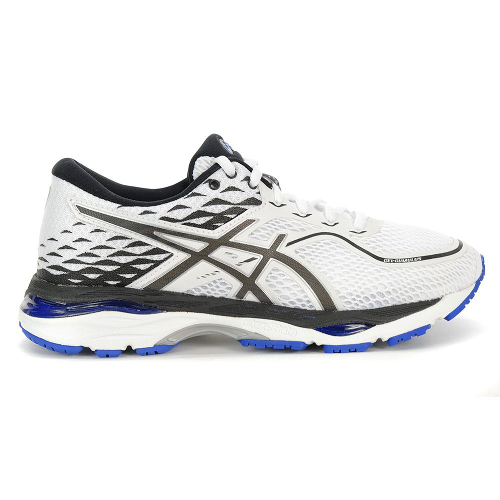 75b63595a62 Asics Women s GEL-Cumulus 19 White Black Blue Purple Running Shoes  T7B8N.0190 NEW!