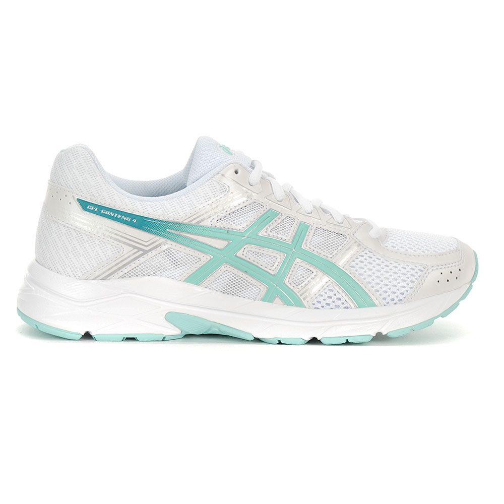 ba72e5a59aa04 Details about ASICS Women's GEL Contend 4 White/Aruba/Silver Running Shoes  T765N.0188 NEW