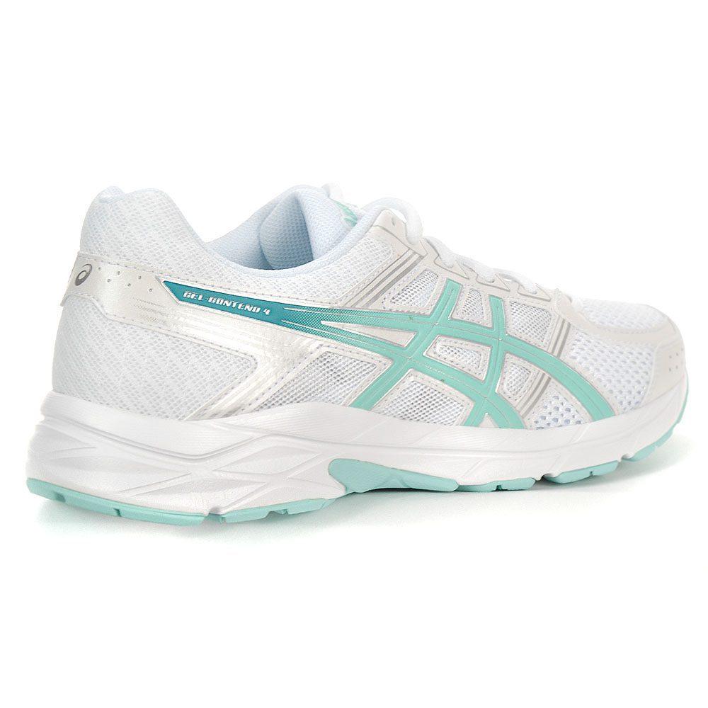 1242f9cb5b0be ASICS Women's GEL Contend 4 White/Aruba/Silver Running Shoes T765N.0188