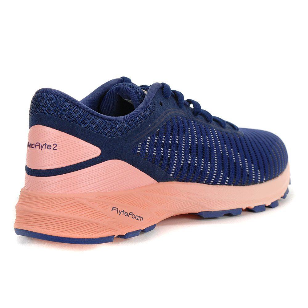 online store 26a90 d2eb0 ASICS Women's Dynaflyte 2 Indigo Blue/White/Begonia Running Shoes T7D5N.4901