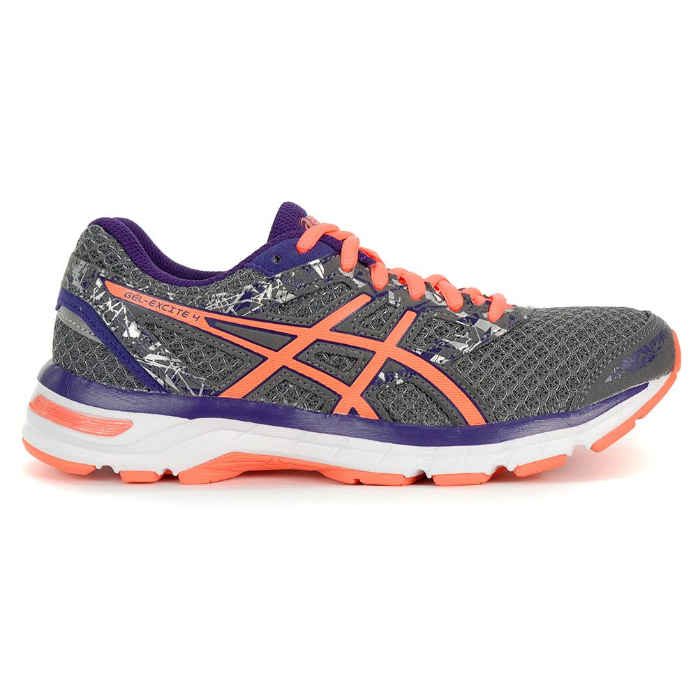 d7ecb8f304259 ASICS Women's Gel-Excite 4 Shark/Flashcoral/Purple Running Shoes T6E8N.9606  NEW!