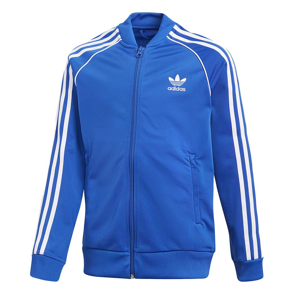 Details about Adidas Originals Boys SST Track Suit Jacket Blue Youth CF8553 NEW!