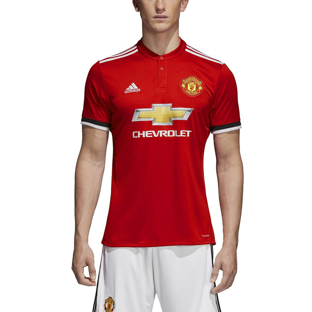 new arrival b4ce5 204b7 Adidas Men's Manchester United Red/White/Black Soccer Home Jersey BS1214