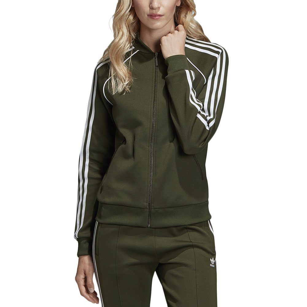 Details about Adidas Originals Women's SST Track Top Jacket Night Cargo Green DH3166 NEW