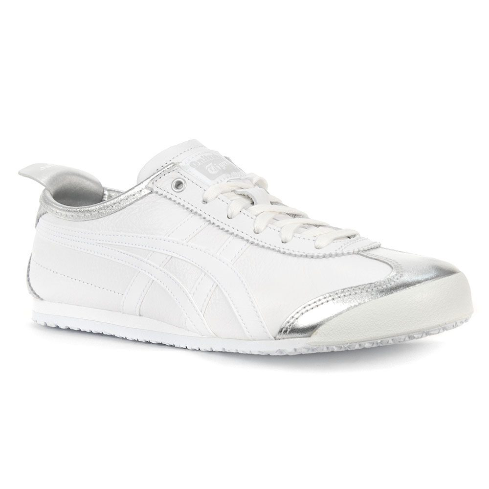 timeless design be842 fee75 ASICS Onitsuka Tiger Mexico 66 Silver/White Shoes 1183A033.020