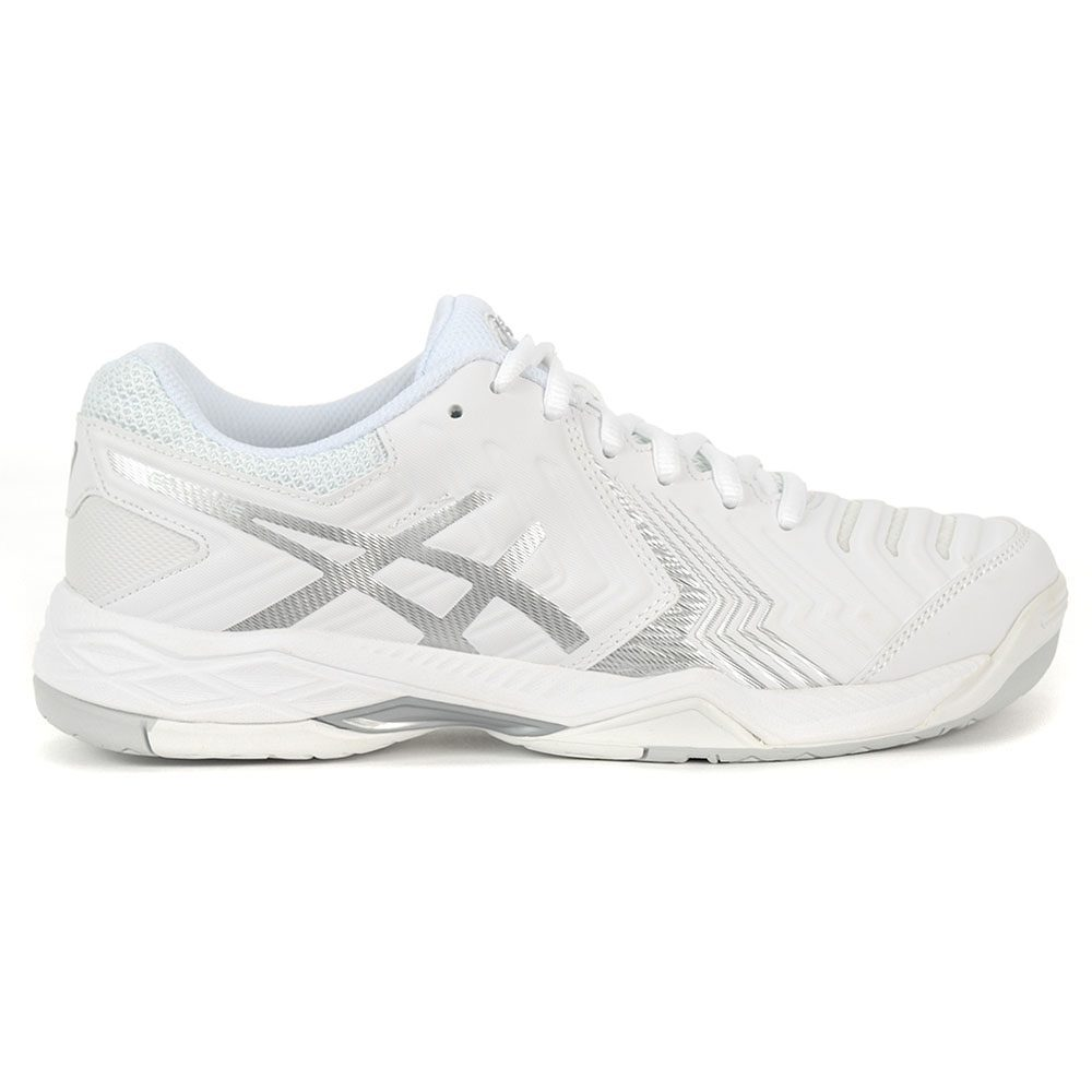 online store 6bc55 bc9b1 ASICS Women s Gel-Game 6 White Silver Tennis Shoes E755Y.0193 NEW!