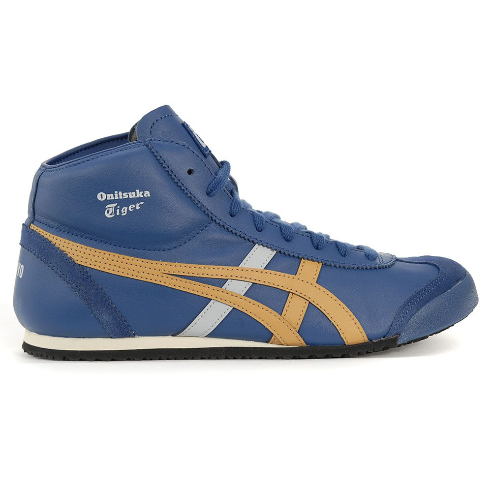 the latest 5f426 3a3d0 Details about ASICS Onitsuka Tiger Mexico Mid Runner Midnight Blue/Caravan  HL328.400 NEW