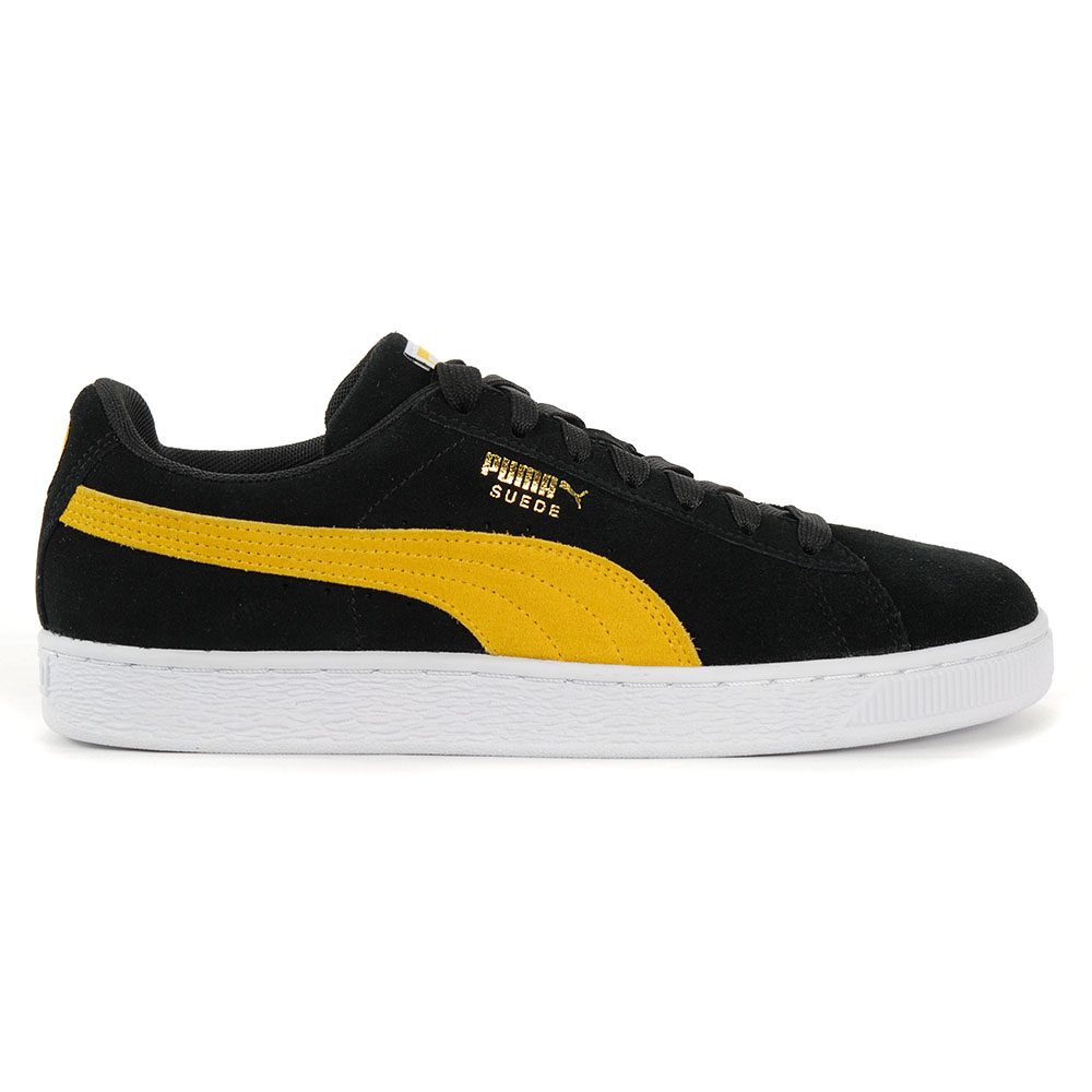 newest 64913 cf075 Details about PUMA Men's Suede Classic Black/Spectra Yellow/White Shoes  36534744 NEW!