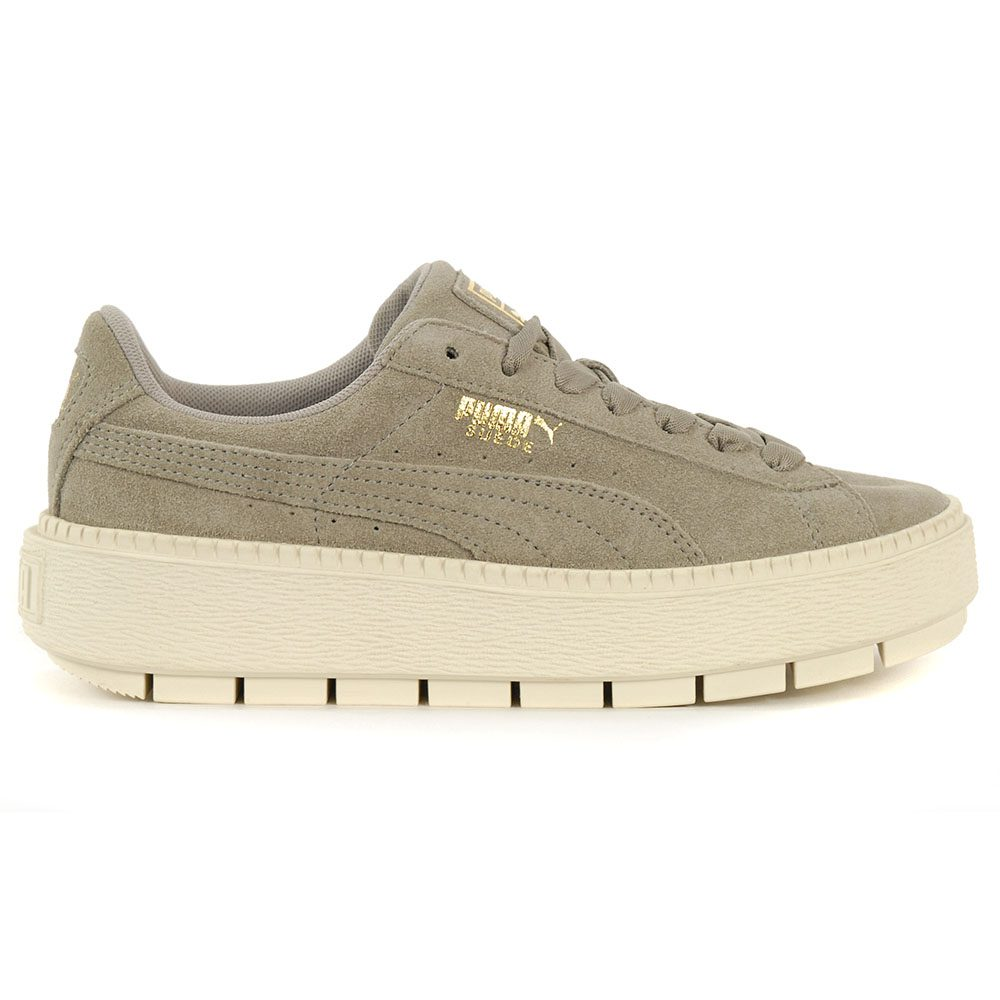 promo code 3b03f 69a91 PUMA Women's Suede Platform Trace Rock Ridge/Marshmallow Shoes 36583006