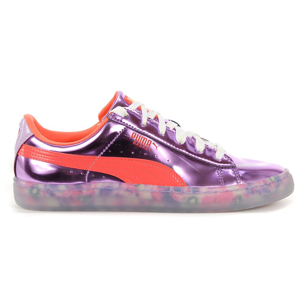 promo code 7f8fc 063aa PUMA Women's Basket Candy Princess Metallic Pink/Fiery Coral Shoes 36613401