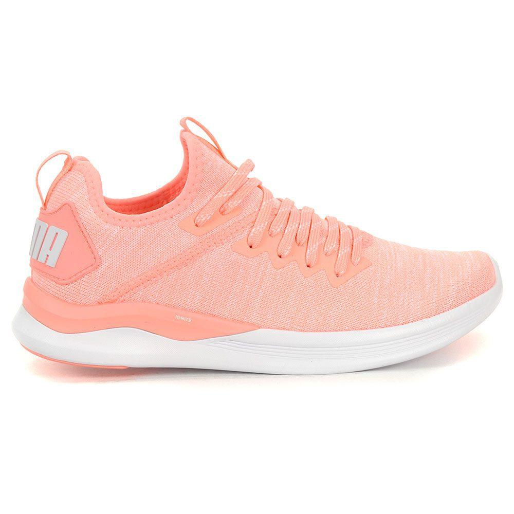 7b4d55cd05 PUMA Women's Ignite Flash Evoknit Bright Peach/White Shoes 19051115 NEW!