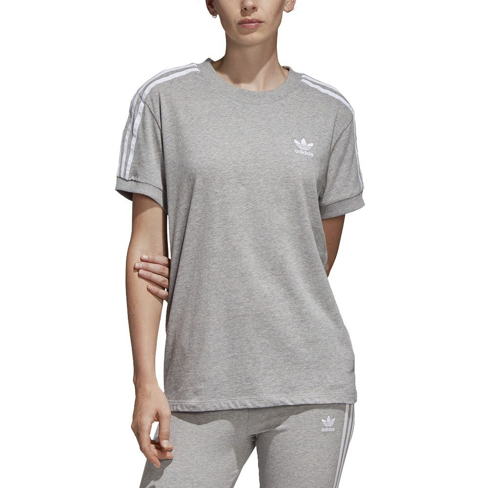 Details about Adidas Originals Women's 3-Stripe Tee Medium Grey/Heather  Shirt CY4982 NEW