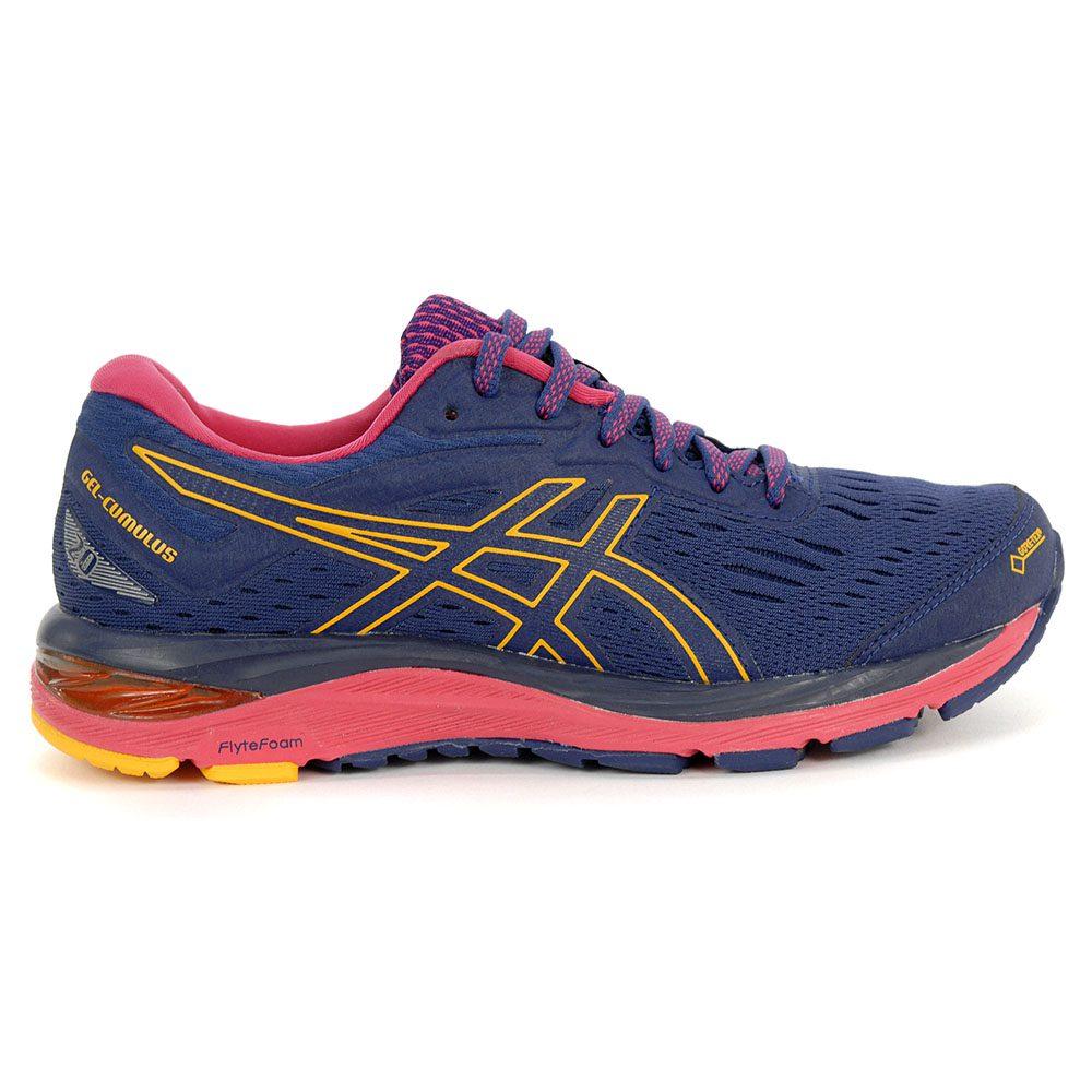 Blue Asics Gel Cumulus 20 G TX Womens Running Shoes checkout
