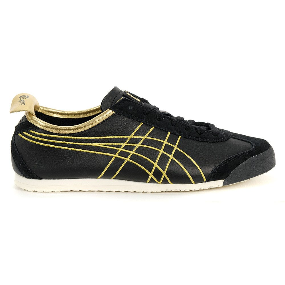 san francisco f2b01 17d56 ASICS Onitsuka Tiger Mexico 66 Black/Rich Gold Unisex Shoes 1183A349.001