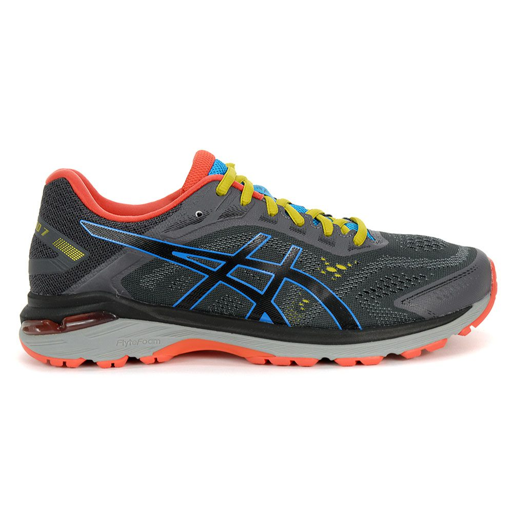 5f7c0167b4 ASICS Men's GT-2000 7 Trail Dark Grey/Black Running Shoes 1011A179.020