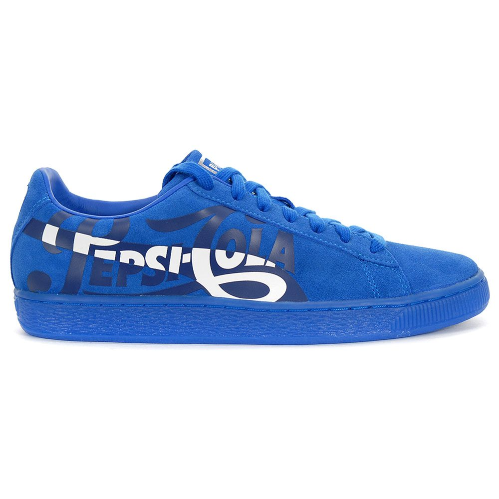 Puma Suede Classic X Pepsi Mens Blue Lace Up Low Top Sneakers Shoes 8.5